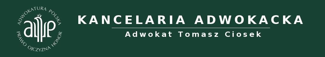 Adwokat Tomasz Ciosek | Kancelaria Adwokacka Kielce | Prawnik w Kielcach